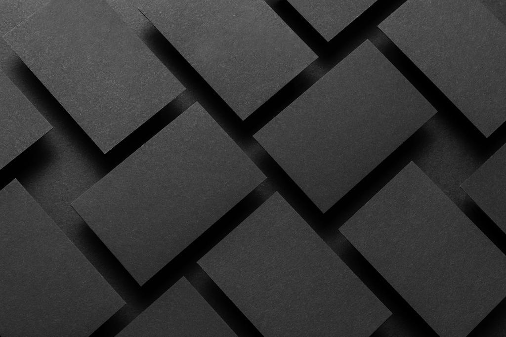 高级黑质感品牌VI样机PSD展示效果图Black Branding mockup