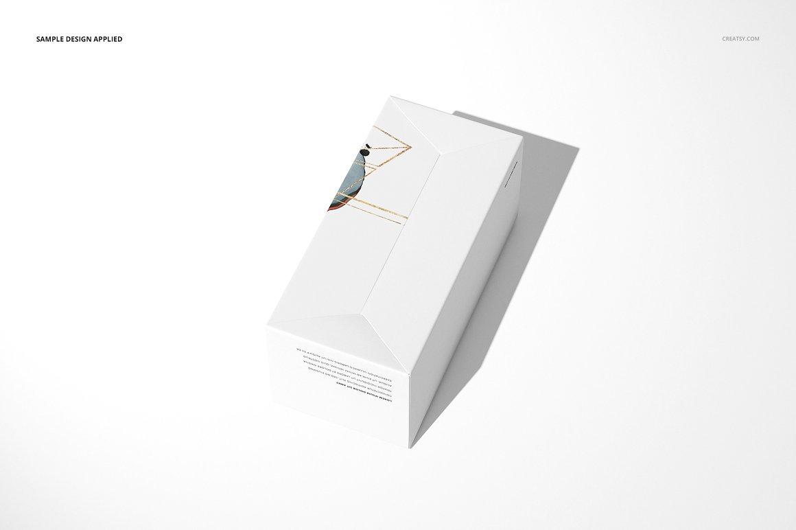 纸盒锁底盒PSD包装样机贴图Snap Lock Bottom Box Mockup D