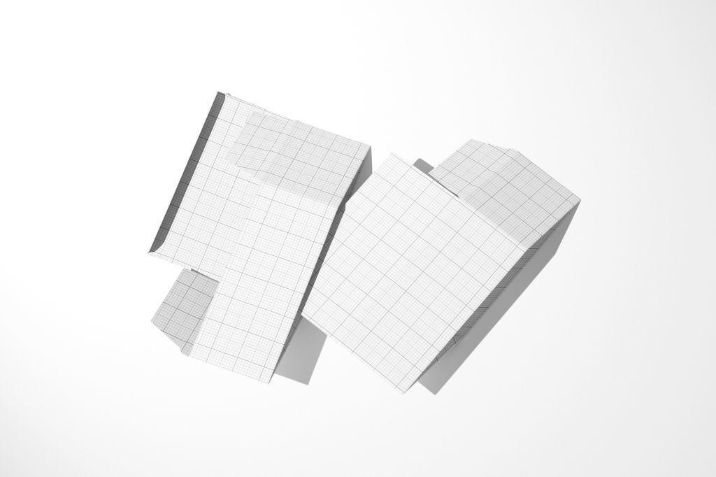 纸盒锁底盒PSD包装样机贴图Snap Lock Bottom Box Mockup C