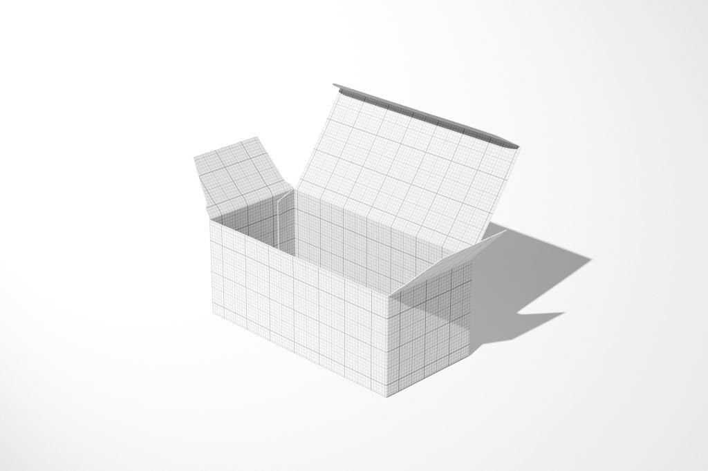 纸盒锁底盒PSD包装样机贴图Snap Lock Bottom Box Mockup B