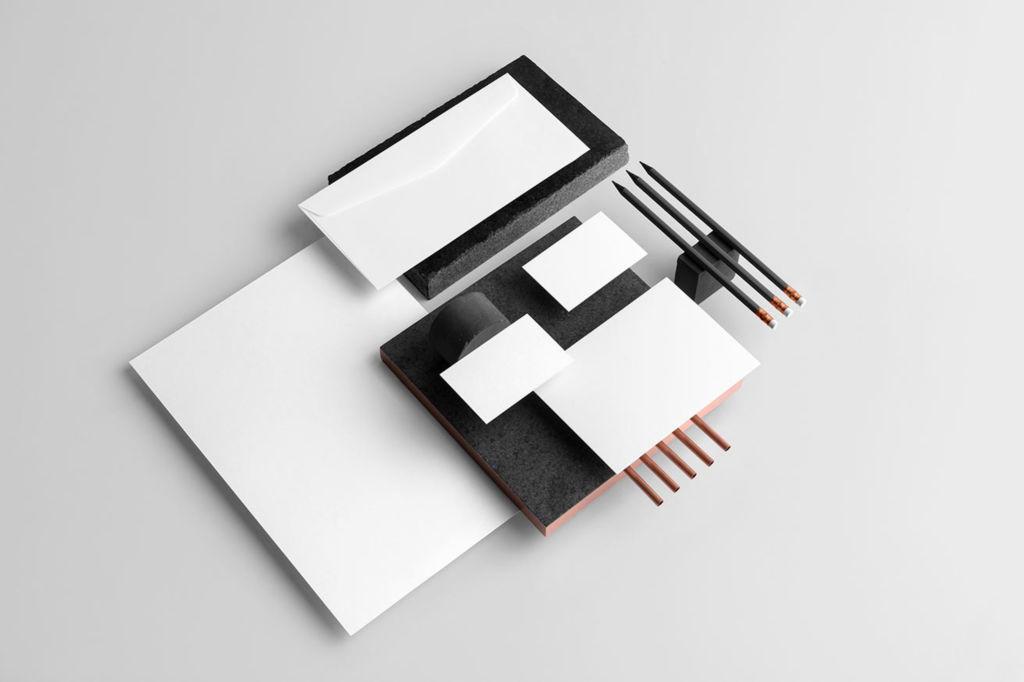 企业办公文具品牌VI视觉展示PSD样机贴图Copperstone Branding Mockup