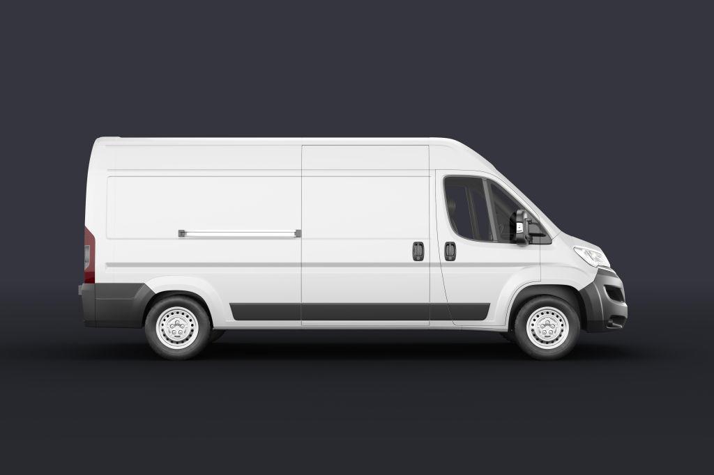 货车面包车汽车车身贴PSD样机贴图Van Car Mockup