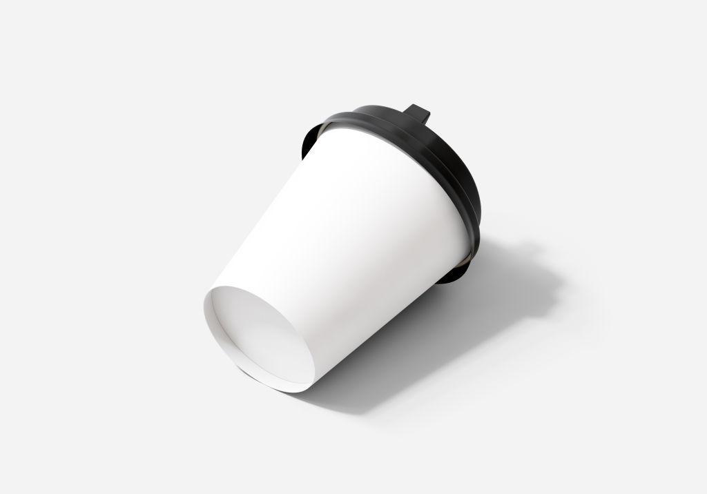 咖啡杯纸杯PSD分层样机贴图22855393-paper-cup-200ml-mockup